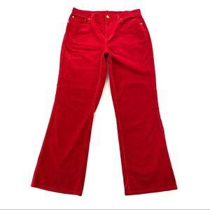 Ralph Lauren w Red Corduroy Pants 12P